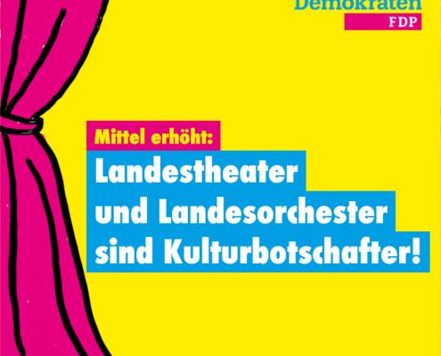 Landestheater und Orchester sind Kulturbotschafter