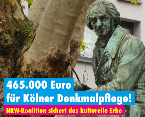 465.000 Euro für Kölner Denkmäler